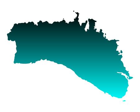 Map of Menorca