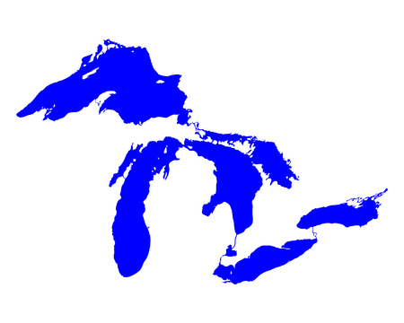 great: Map of Great Lakes