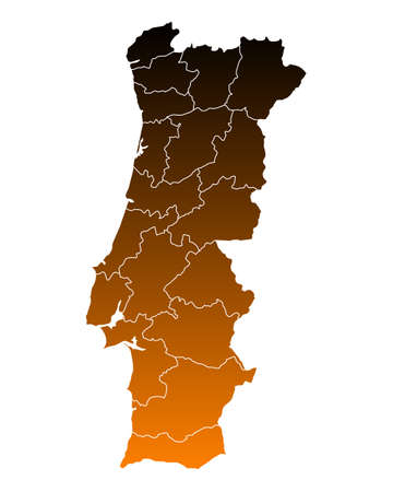 portugal: Map of Portugal