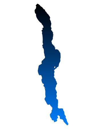 malawi: Map of Lake Malawi