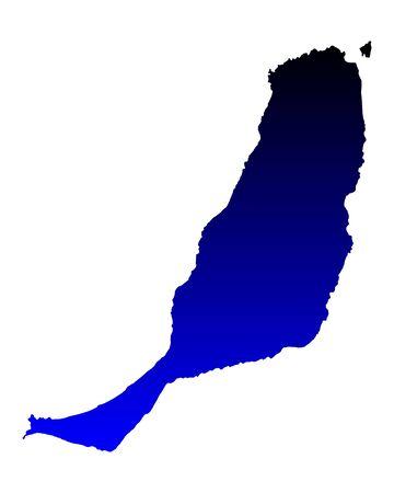 fuerteventura: Map of Fuerteventura