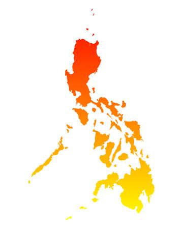 philippines: Map of Philippines Illustration