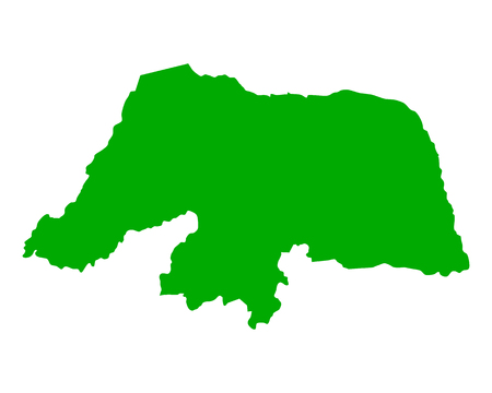 do: Map of Rio Grande do Norte Illustration