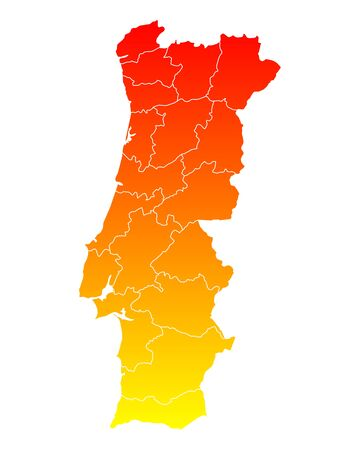 districts: Map of Portugal
