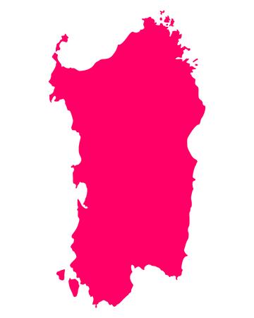 sardinia: Map of Sardinia Illustration