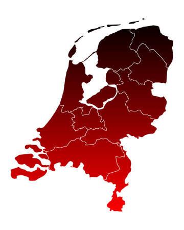 province: Map of thr Netherlands Illustration