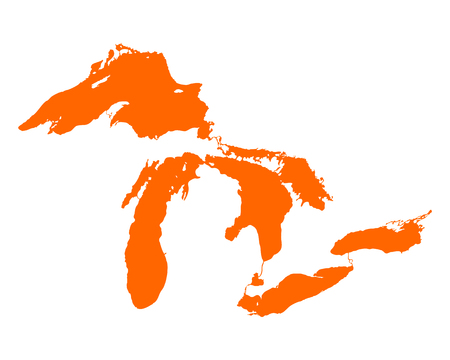 the great lakes: Map of Great Lakes