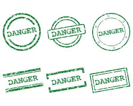 danger: Danger stamps Illustration