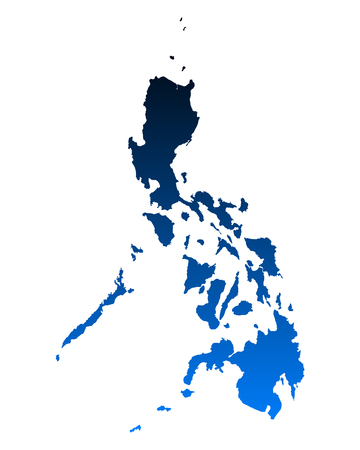 philippines map: Map of Philippines Illustration