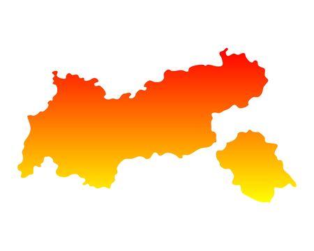 tyrol: Map of Tyrol