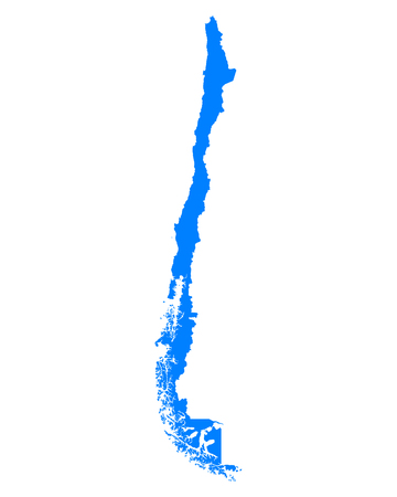 chile: Map of Chile Illustration