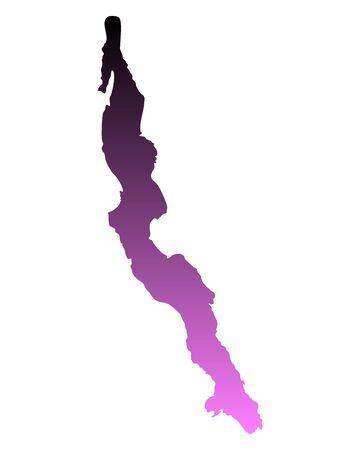 tanganyika: Map of Lake Tanganyika