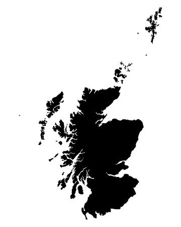 スコットランドの地図  イラスト・ベクター素材
