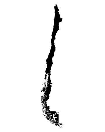 チリの地図 写真素材 - 50770980