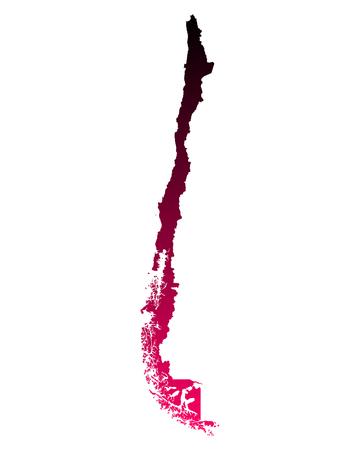 チリの地図 写真素材 - 51082523
