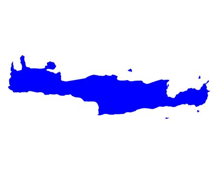 greek islands: Map of Crete