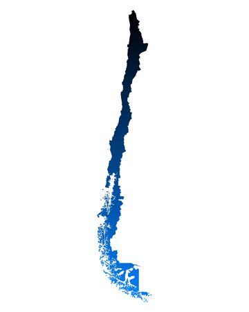 チリの地図 写真素材 - 51312977