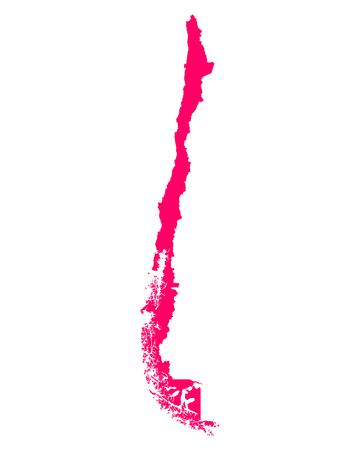 チリの地図 写真素材 - 52101554