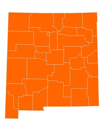 orange county: Map of New Mexico