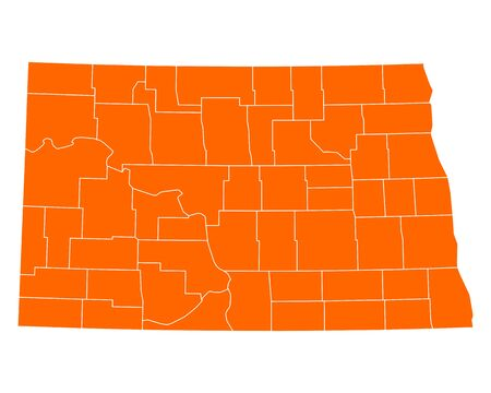 orange county: Map of North Dakota