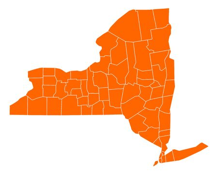 orange county: Map of New York Illustration