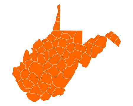 orange county: Map of West Virginia