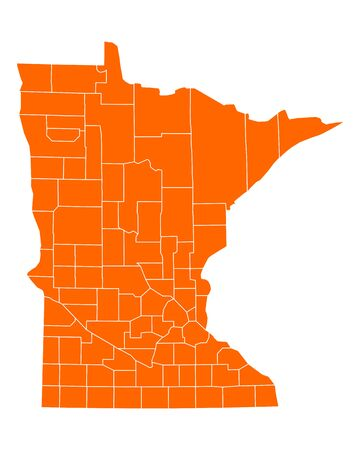 orange county: Map of Minnesota