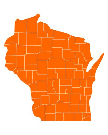 orange county: Map of Wisconsin