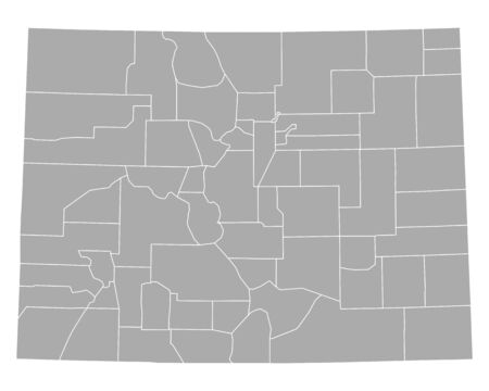 Map of Colorado 일러스트