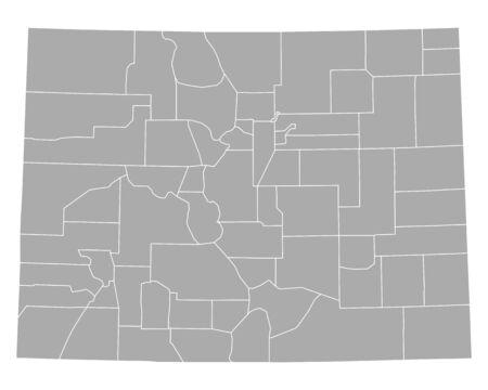 Map of Colorado Ilustração