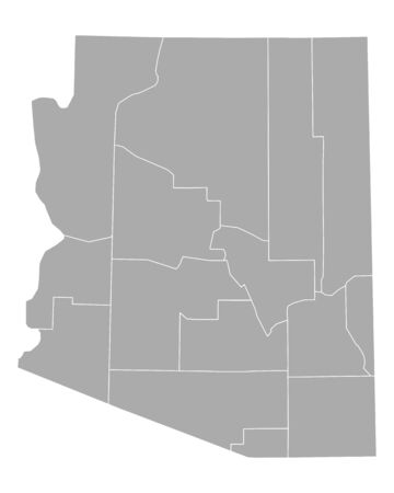 Map of Arizona 矢量图像