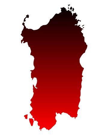 Kaart van Sardinië Vector Illustratie