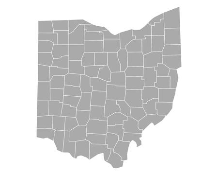 county: Map of Ohio