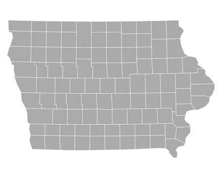 county: Map of Iowa