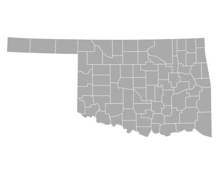 oklahoma: Map of Oklahoma