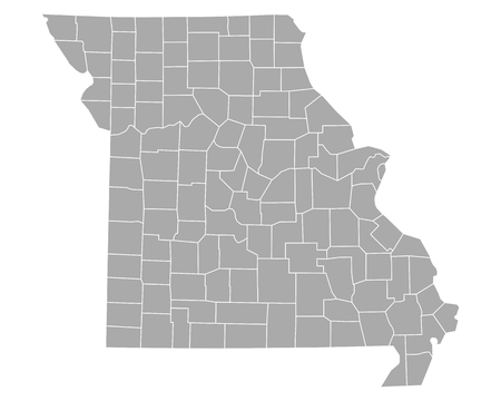 Map of Missouri 矢量图像