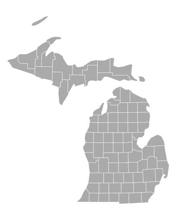 Map of Michigan Illustration