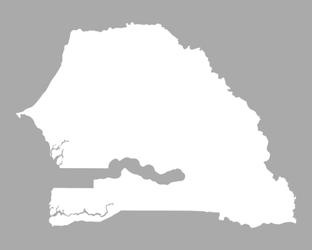 senegal: Map of Senegal