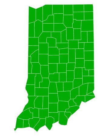 indiana: Map of Indiana