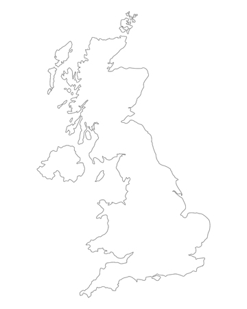 great britain: Map of Great Britain Illustration