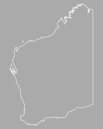 western australia: Map of Western Australia
