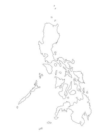 philippines: Map of the Philippines Illustration