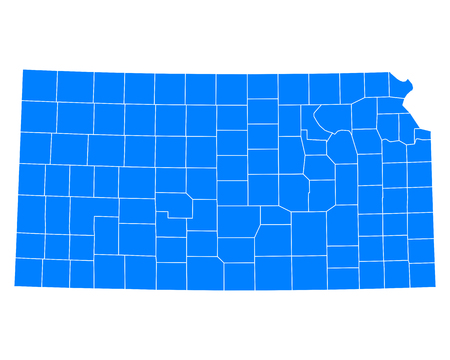 Map of Kansas Ilustrace