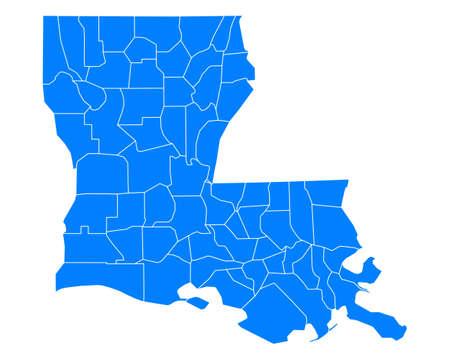 Carte de la Louisiane