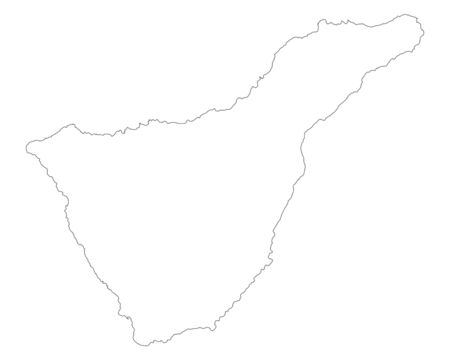 canary islands: Map of Tenerife