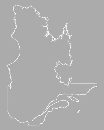 quebec: Map of Quebec