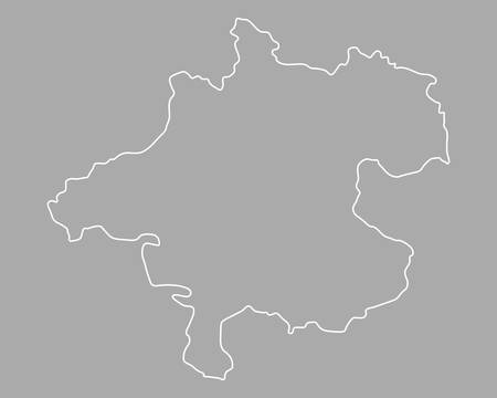 upper austria: Map of Upper Austria Illustration