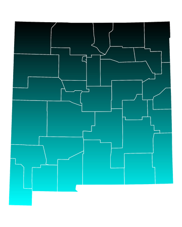 Carte du Nouveau-Mexique
