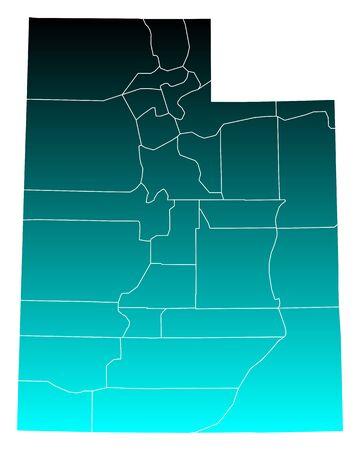 ユタ州の地図