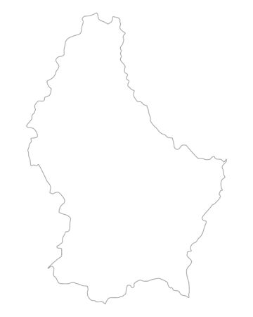 luxembourg: Map of Luxembourg Illustration